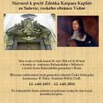 Slavnost k poctě Zdeňka Kašpara Kaplíře ze Sulevic