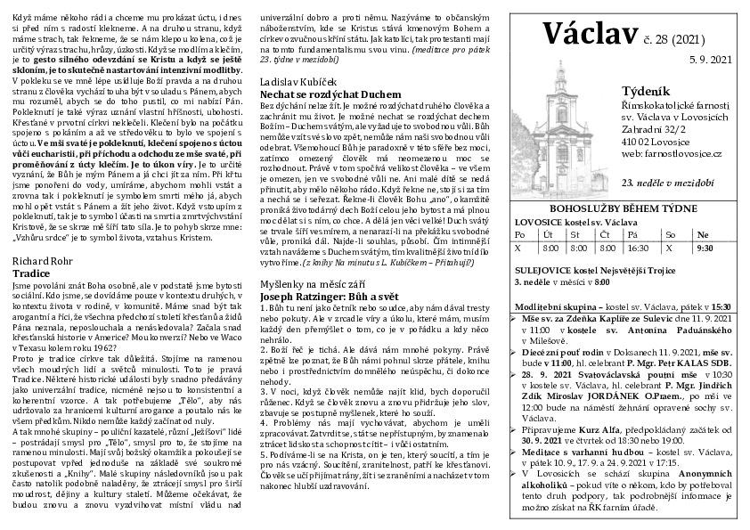 Václav 28.2021